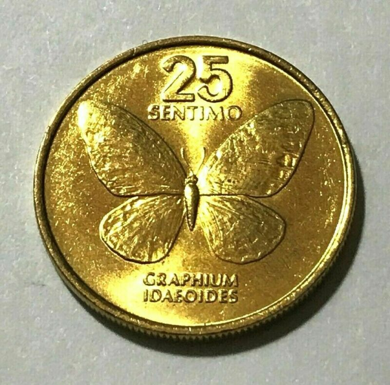 $3.50 • Buy Philippines 25 Sentimo, Butterfly, Insect, Bug, Animal Wildlife Coin