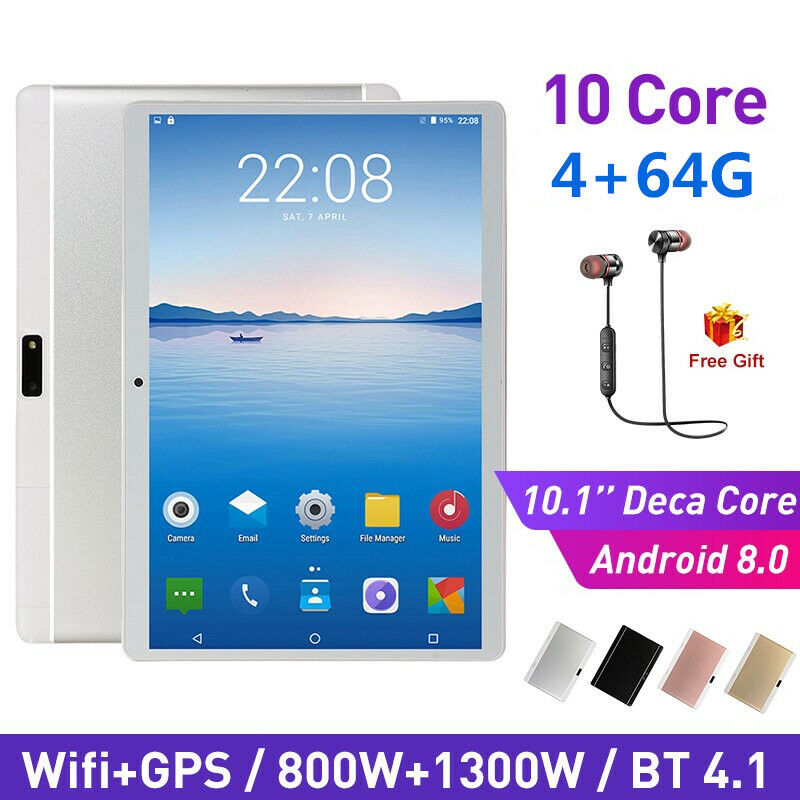 AU102.99 • Buy 10.1 Inch Bluetooth Android 8.0 Tablet 8+512GB Phablet PC Dual Camera IPS WiFi