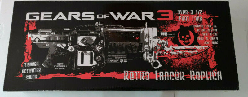 $400 • Buy Gears Of War 3 Retro Lancer Replica Mint In Box