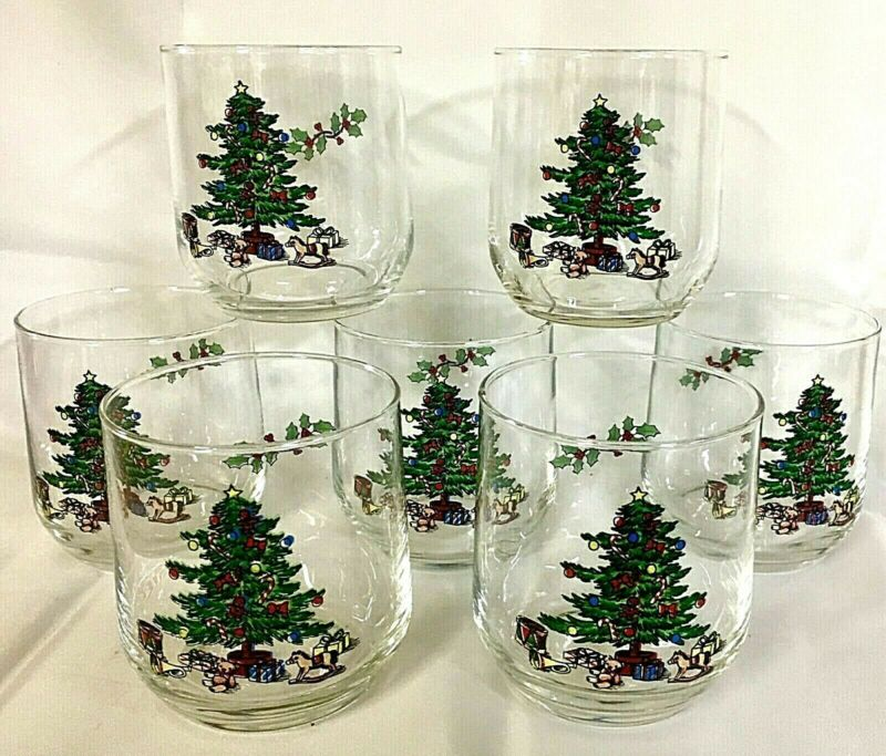$19.99 • Buy Set Of 6 Tienshan HOLIDAY HOSTESS Old Fashioned, Juice Glass Goblets 3 3/8