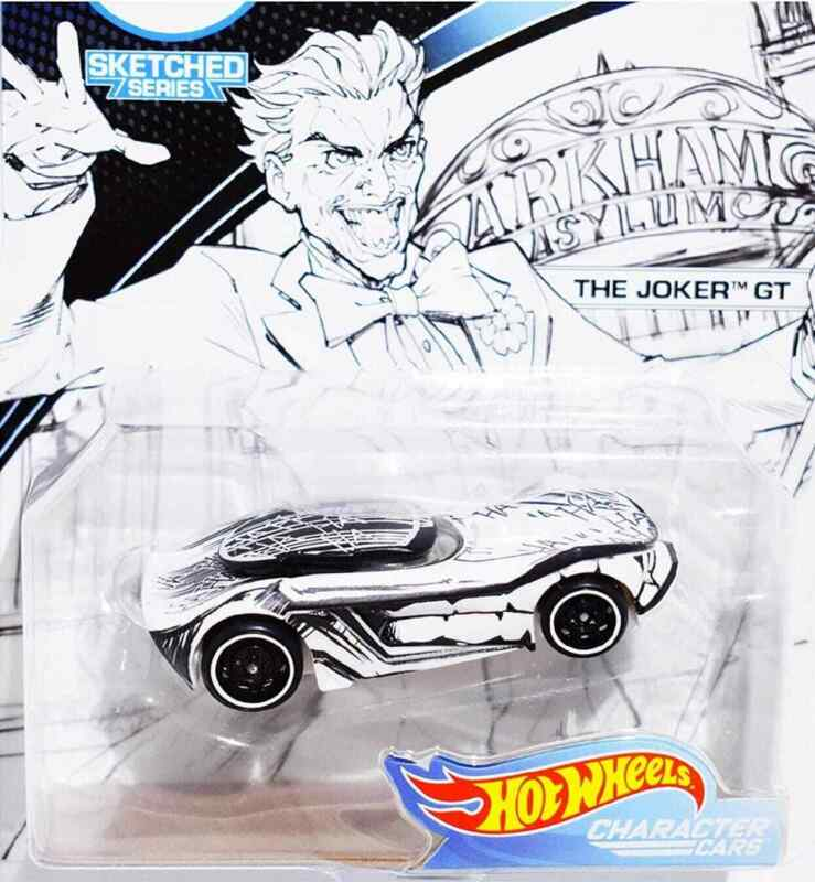 $9 • Buy DC Hot Wheels The Joker GT Character Cars Sketched Series NEW