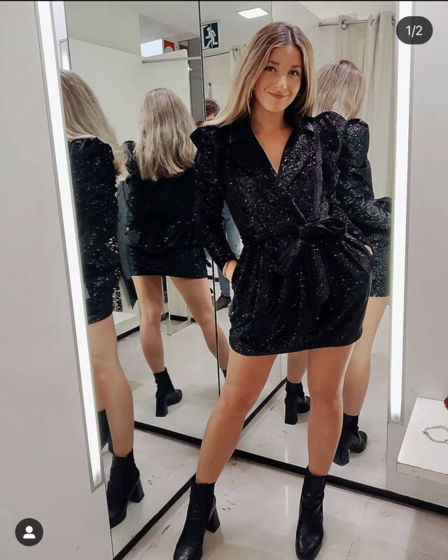 $68 • Buy Nwt_zara Aw19 Woman  Shiny Blazer Dress Black 8824/866_size Xs-xl