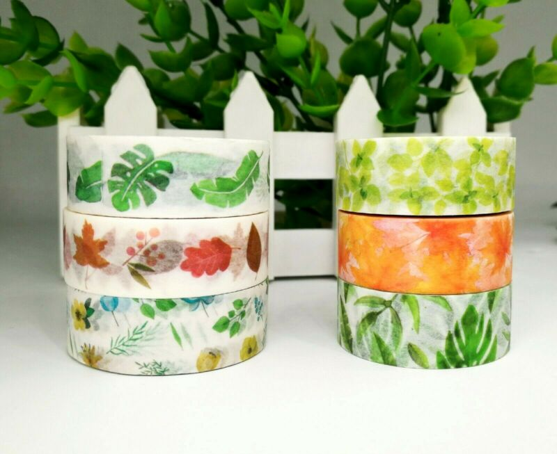 AU2.70 • Buy Japan Washi Tape  - Leaf And Greens Collection 15mmx7m  MT082