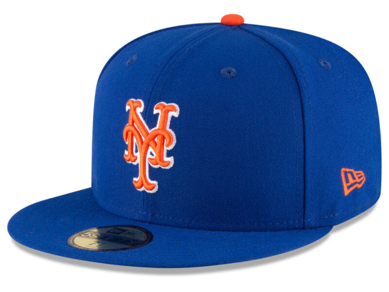 sports shoes 33c8c 381a2 New Era New York Mets ALT 59Fifty Fitted Hat (Light Royal Orange) MLB