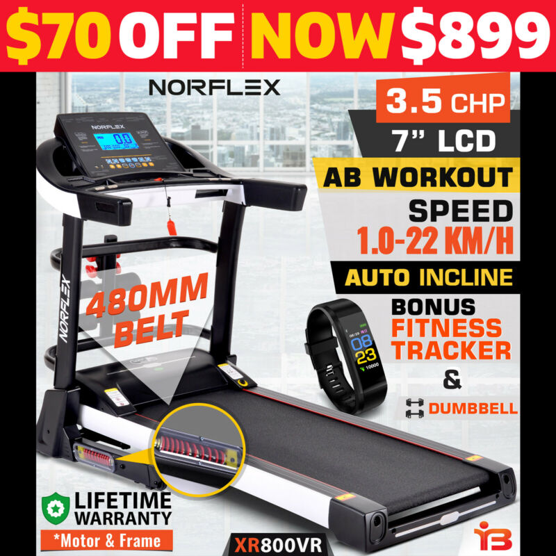 AU719 • Buy NEW NORFLEX Electric Treadmill Auto Incline Home Gym Exercise Machine Fitness
