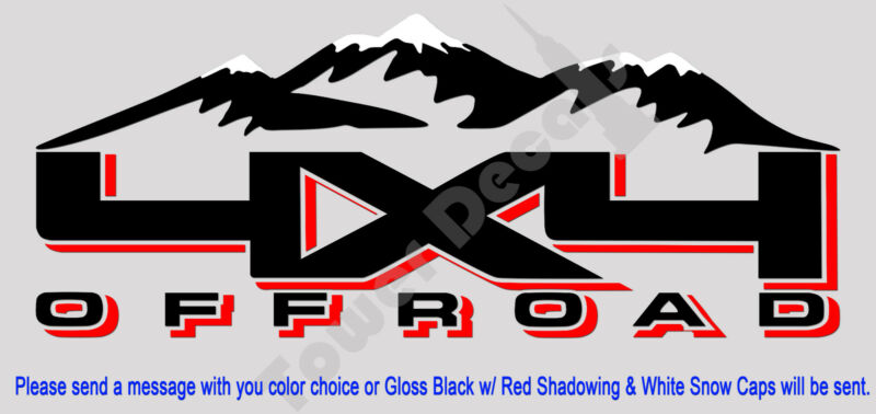 $37.39 • Buy 4x4 Snow Capped Mountains Truck Bed Side Decal Fits Nissan Titan Frontier Xterra