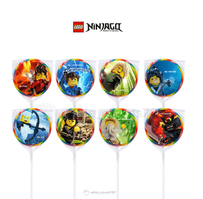 $3.75 • Buy 24 LEGO Ninjago Movie Stickers Round Labels For Bag Lollipop Party Favors