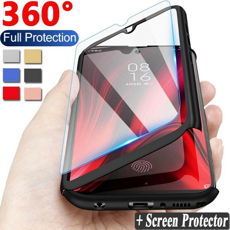 $2.98 • Buy For Xiaomi Redmi 8A 7A 6A Note 8 7 6 5 Pro 360° Full Cover Case + Tempered Glass