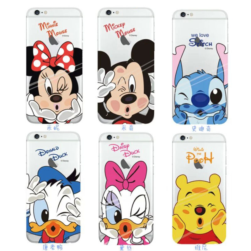 05c010acc57 FUNDA CARCASA SUAVE TPU PARA IPHONE X XR XS Max 6 7 8 PLUS -DISNEY