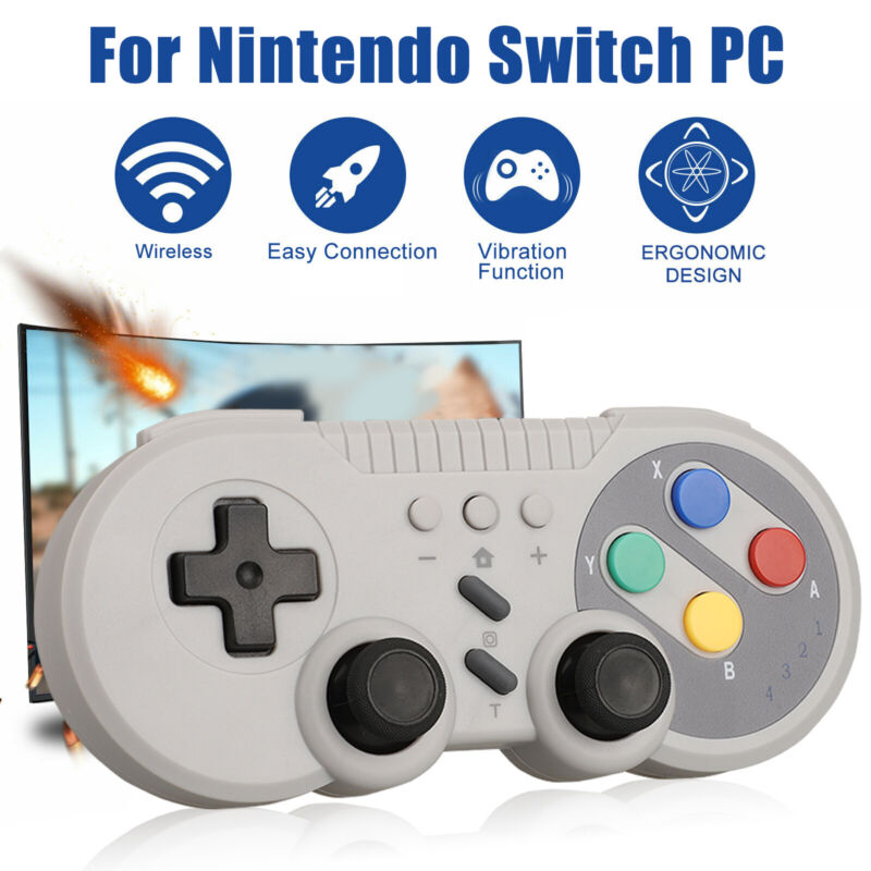 $18.97 • Buy For Nintendo Switch Wireless Bluetooth Pro Game Controller Classic Gamepad Gray