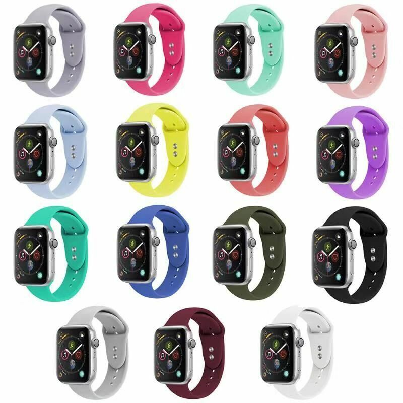 $ CDN6.05 • Buy Sports Silicone Bands Straps For Apple Watch IWatch Series 4 3 2 1 38/42/40/44mm
