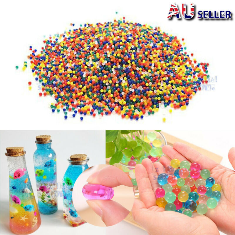 AU5.99 • Buy 100000 Orbeez Crystal Soil Water Balls Jelly Gel Beads For Vase Home Wedding