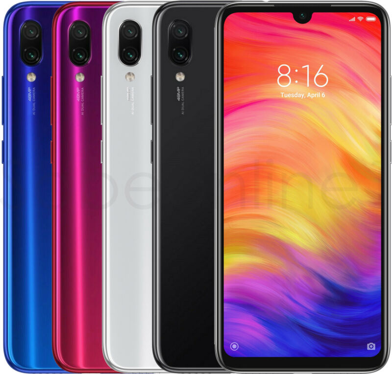 Xiaomi Redmi Note 7 64GB 4GB 6.3  48MP Dual Sim (FACTORY UNLOCKED) Black, Blue • 172.89$