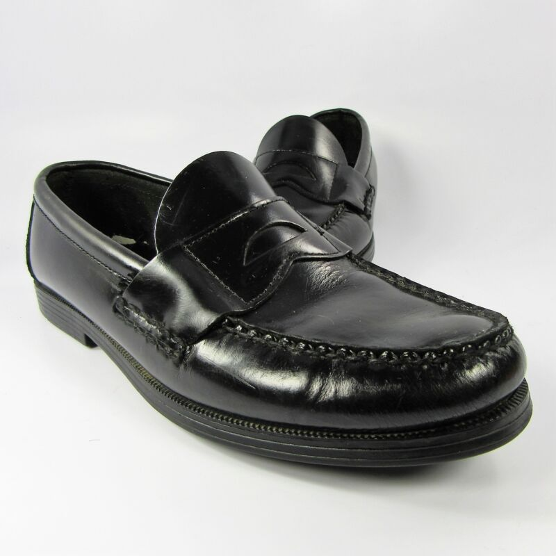 2e3a0e2a506e Sperry Top-Sider Penny Loafers Boys-Girls Youth Size 5.5W Black Leather Slip