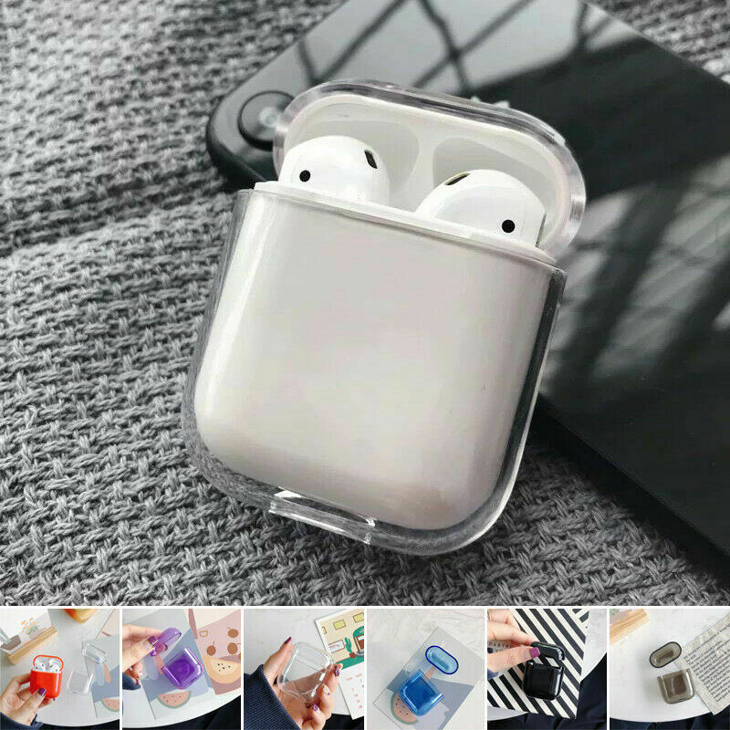 $ CDN1.62 • Buy Slim Crystal Clear Hard PC Protective Case Cover For Apple AirPods 1 2