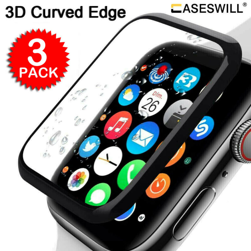 $ CDN3.92 • Buy For Apple Watch Series 5 40mm 44mm 3D Curved Tempered Glass Screen Protector