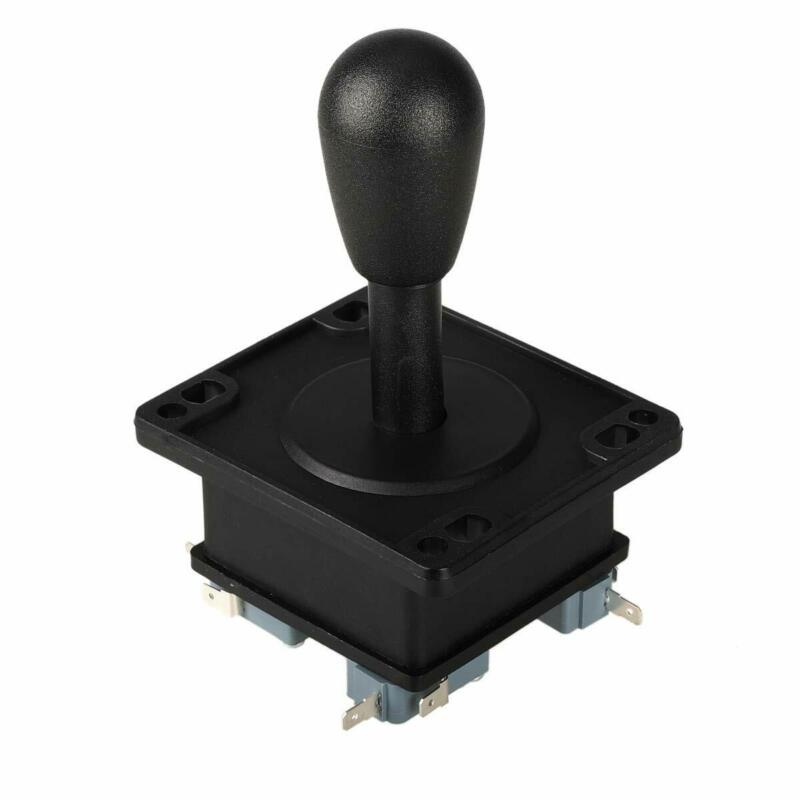 American Style Arcade Competition 2Pin Joystick Black 8 Ways Oval Stick For Mame • 11.88$