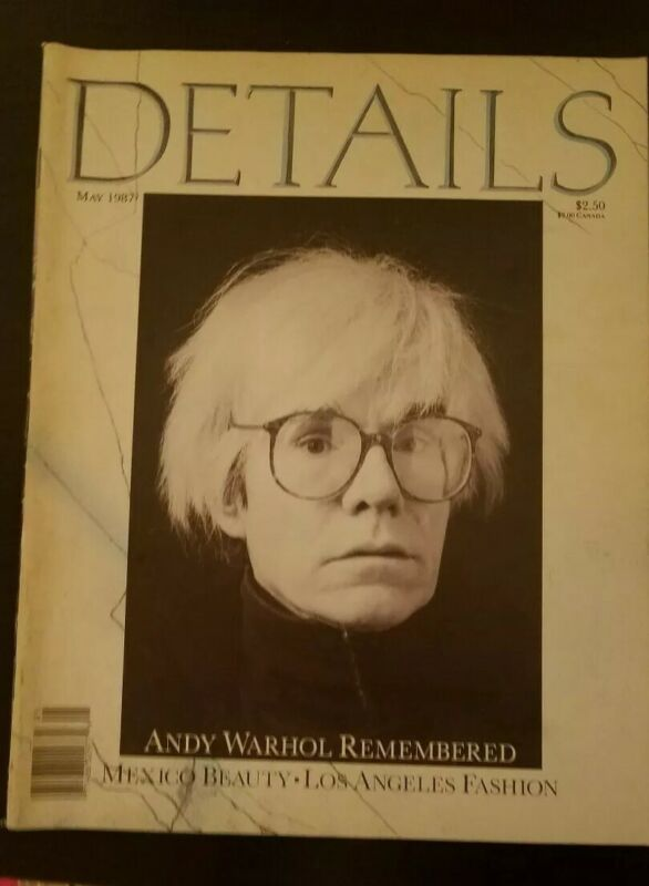 $54.99 • Buy May 1987 Details Magazine W/Andy Warhol On The Cover