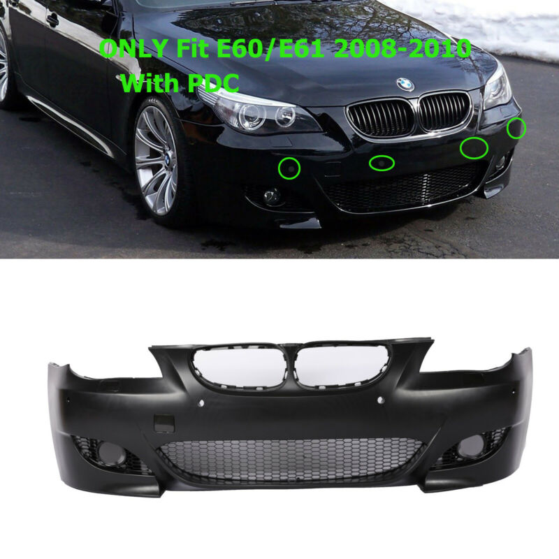 $262.65 • Buy M5 Style Air Duct Type Front Bumper Cover W/ PDC For BMW 5 Series E60 E61 08-10