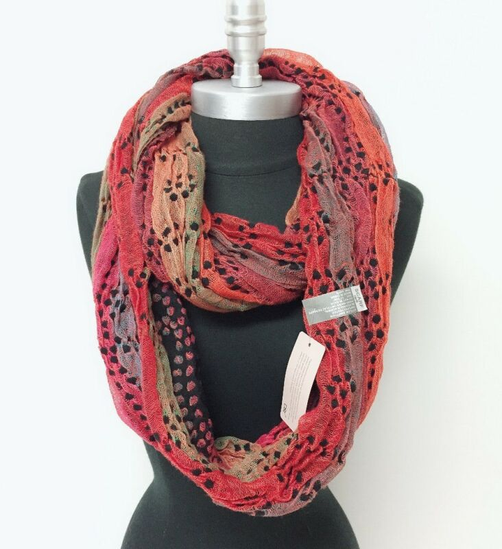 $6.99 • Buy New Women's Knit Crochet Infinity Loop Scarf 2-Circle Wrap Soft Multi-Color