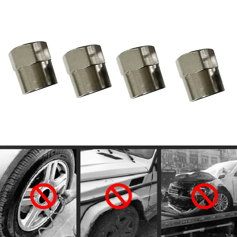 $ CDN1.30 • Buy 5x Hexagon Stainless Steel Tyre Tire Dust Caps Wheel Air Valve Stem Screw Cover
