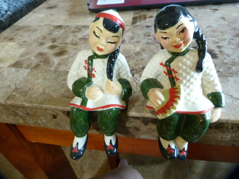 $29.99 • Buy Ceramic Arts Studio , 2 Asian Girl Figurines ~ Madison Wisconsin ~ Vintage