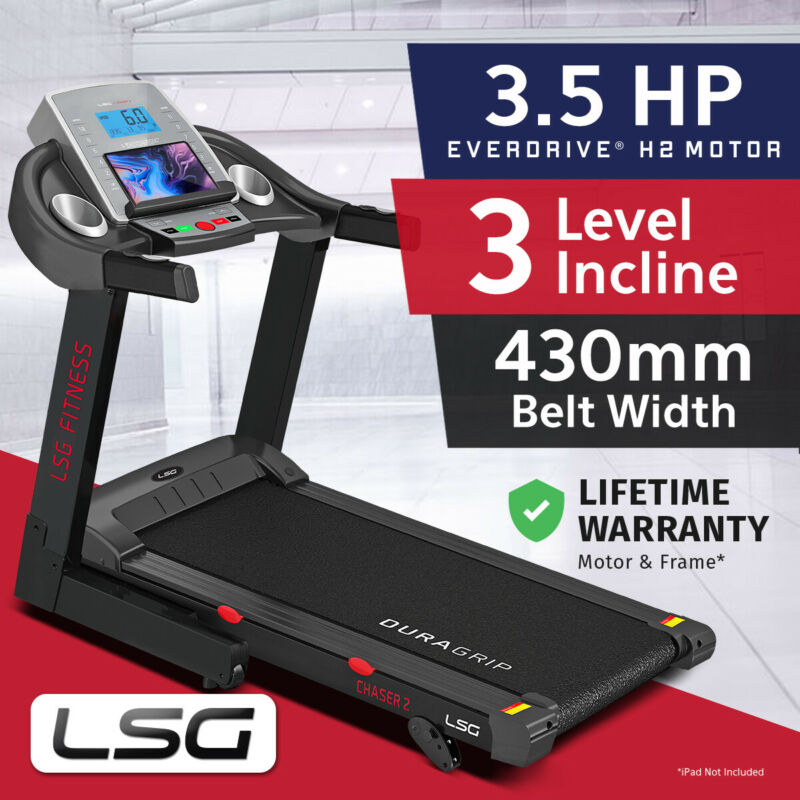 AU489 • Buy Lifespan Fitness New Electric Treadmill Quiet EverDrive® Motor W/ IPad Stand