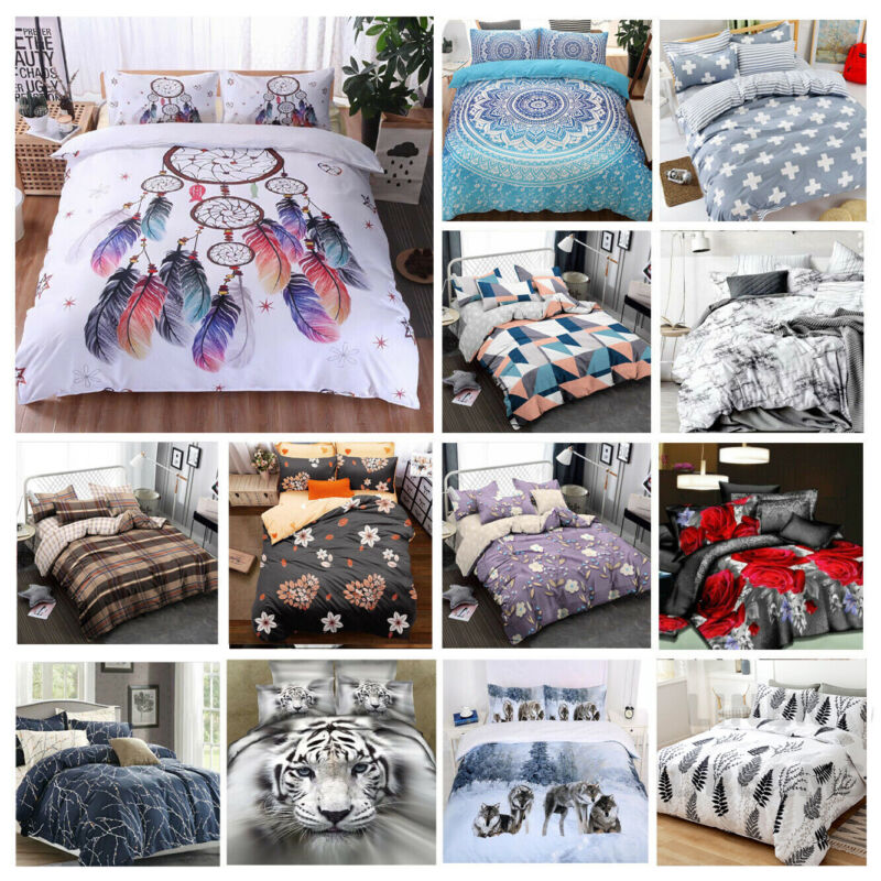 AU33.83 • Buy 2020 New Soft Doona Duvet Quilt Cover Set Single Double Queen King Size Bed