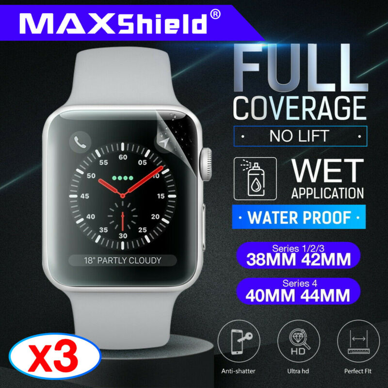 AU9.95 • Buy MaxShield Screen Protector For Apple Watch Series 2/3/4/5 38/42mm 40/44mm IWatch
