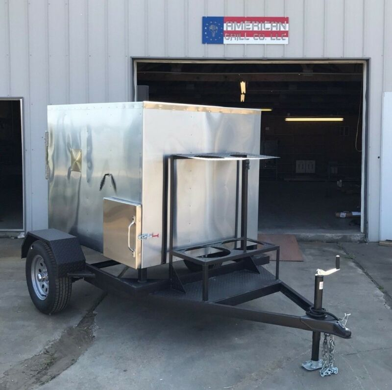 Insulated 48  X 48  Rotisserie Smoker W/ Trailer - Call Before You Buy • 9,295$