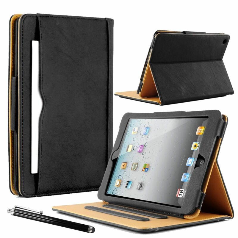 $9.56 • Buy New Real Leather Wallet Smart Stand Case Cover For IPad 234 Air 2017/18 Mini 234