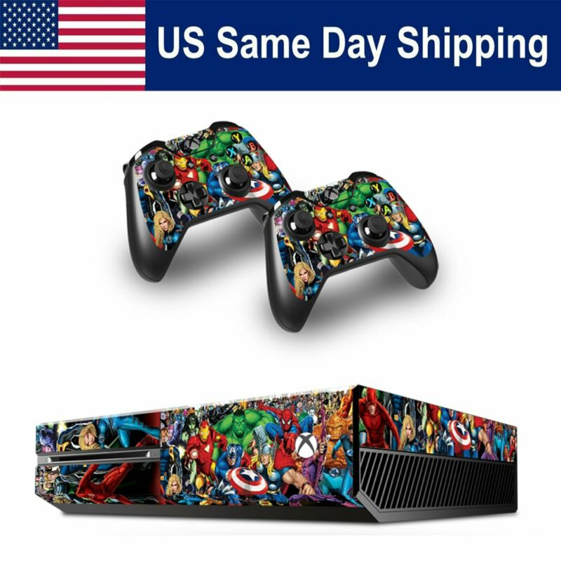 $9.86 • Buy Xbox One Skin Sticker Console + 2 Wireless Gaming Controller Cover Decal Hero