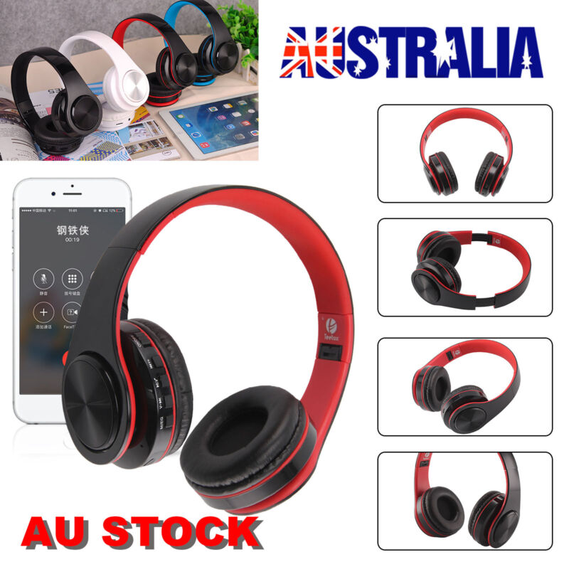 AU18.99 • Buy Wireless Bluetooth Headphones Noise Cancelling Headset Over Ear With Mic AU