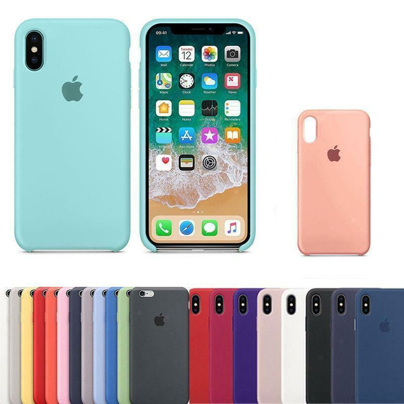 e3f830590e7 Genuina Funda SILICONA Silicone Case Dura Para Apple IPhone X 8 7 6s 6 Plus  •