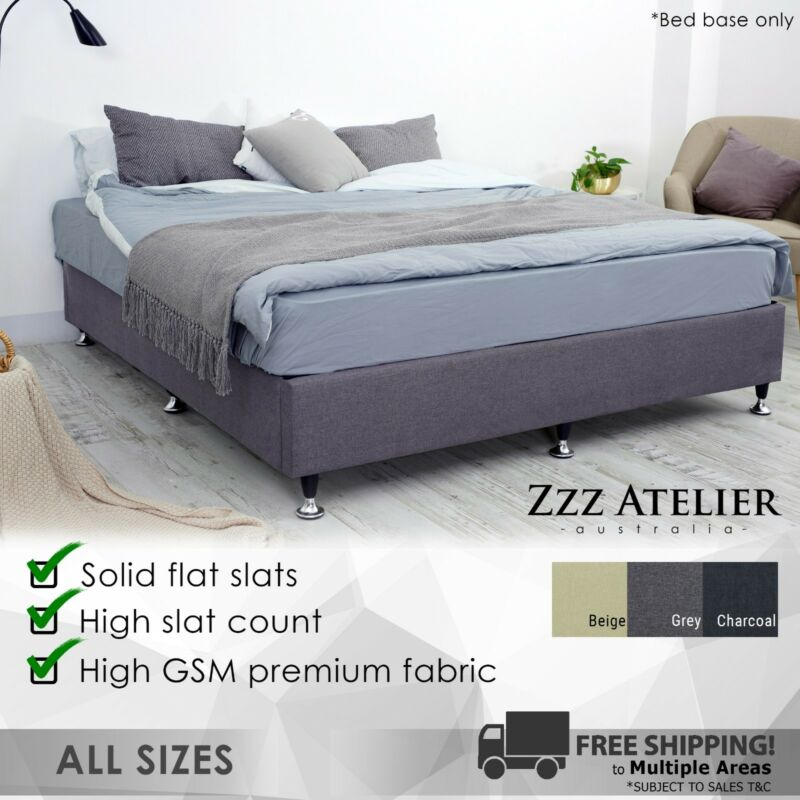 AU199 • Buy New Queen Double King Single Ensemble Mattress Bed Base Solid Slat Frame Support