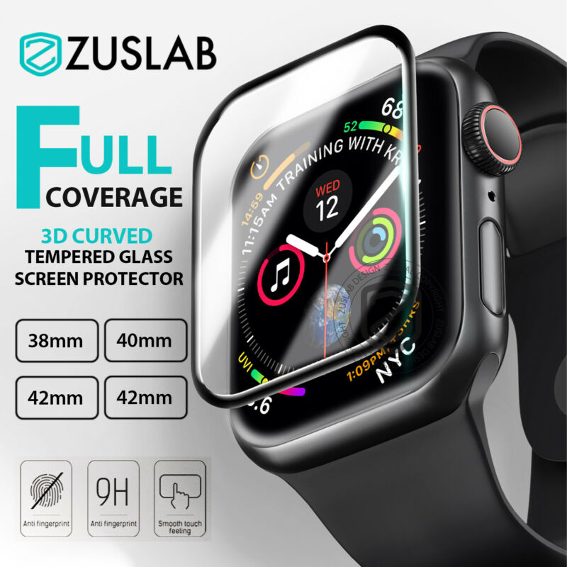 AU5.95 • Buy Apple Watch IWatch 1 2 3 4 5 38/40/42/44mm FULL Tempered Glass Screen Protector