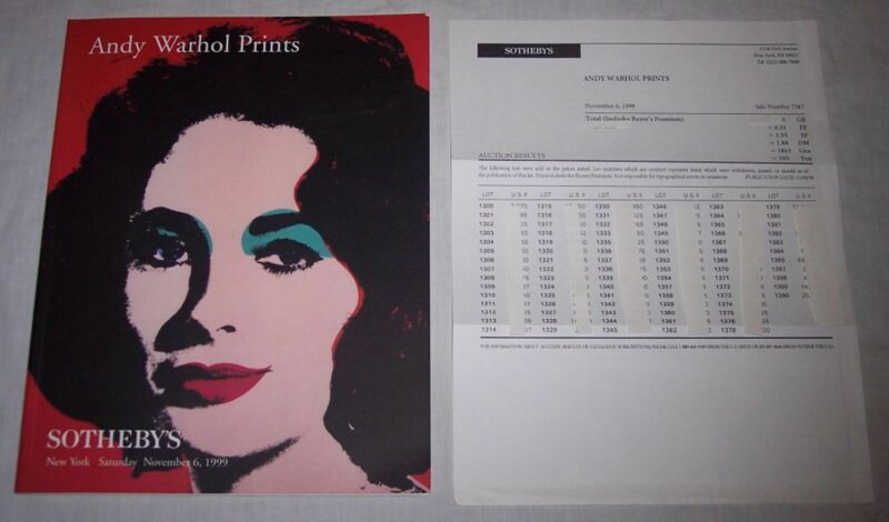 $9.95 • Buy Andy Warhol Prints Sotheby's Auction Catalog 1999 And Auction Results Price List