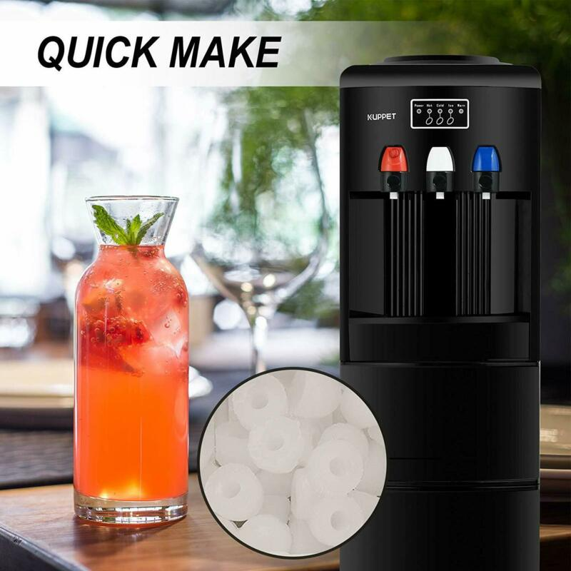 2in1 Electric Dispenser Ice Maker Machine Hot Cold Water W/ Safety Lock Black • 259.90$