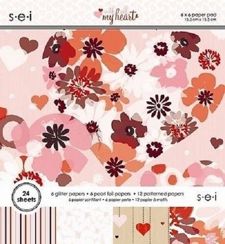 $11.05 • Buy S.e.i WITH ALL MY HEART Paper Pad / Stack 6 X 6  24 Sheets CLEARANCE PRICE