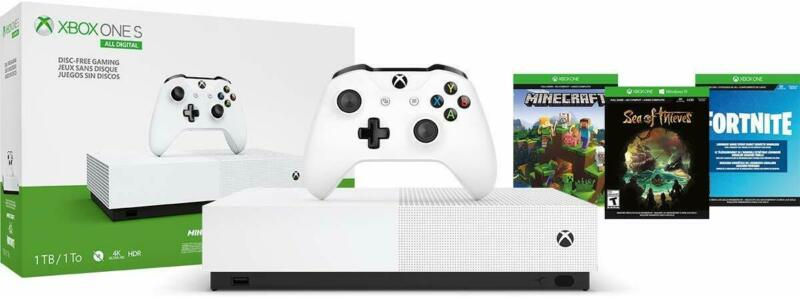 $209 • Buy NEW Xbox One S 1TB All Digital Edition Console With 3 Games Fornite Gift Bundle