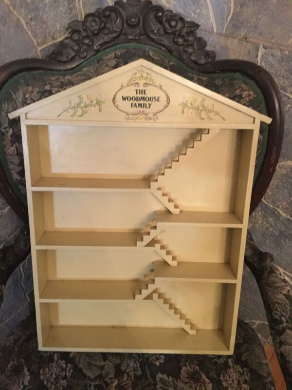 Franklin Mint The WoodMouse Family Dollhouse Display Case Only No Figurines • 15$
