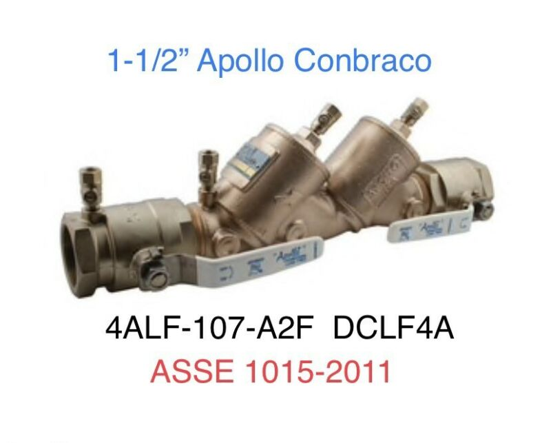 "$299 • Buy 1-1/2"" Pipe Apollo DCLF4A Double Check Backflow Preventer Valve 4ALF107A2F"