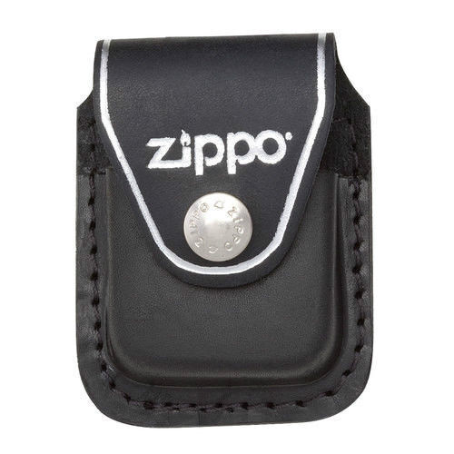 $9.25 • Buy Zippo Lpcbk Black Leather Lighter Pouch Clip, New In Box