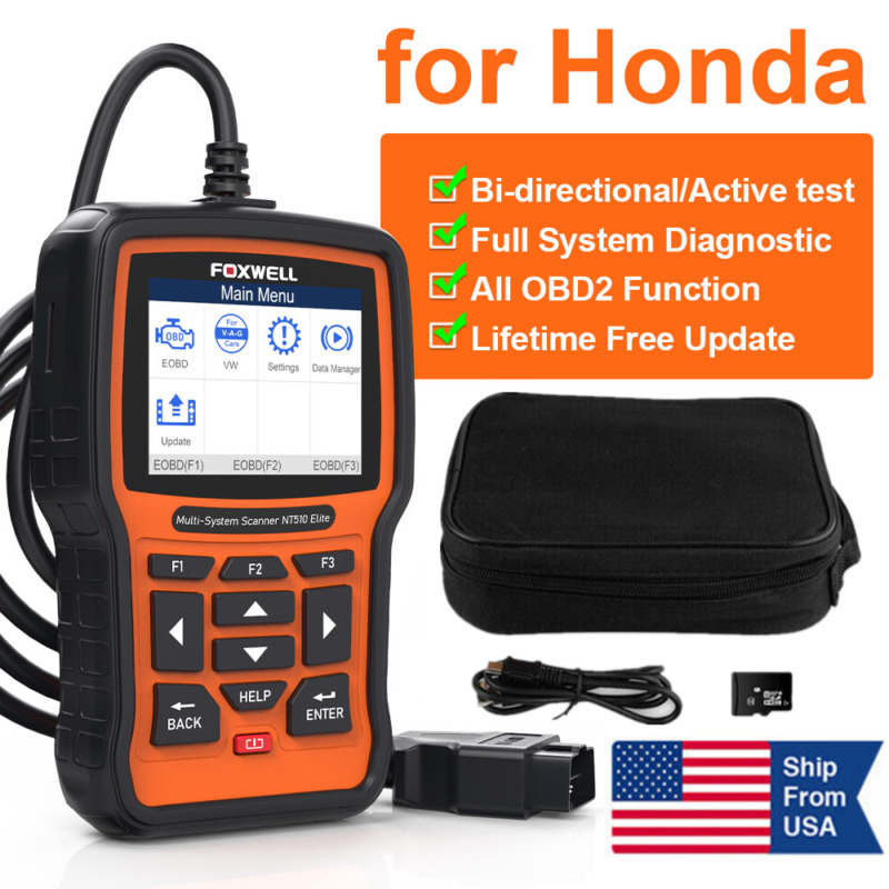 OBD2 Scan Tool For Honda Acura All System Diagnostic Bi-Directional ABS Bleeding • 159$