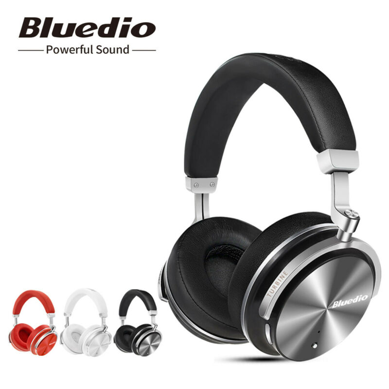 AU35.09 • Buy Bluedio T4S Bluetooth 4.2 Headphones Noise Cancelling Wireless On Ear Headsets