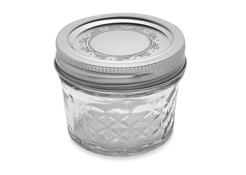 $19.99 • Buy Ball Crystal Quilted Mason Jars 4 Oz Set Of 12, Glass Canning Jars ,jelly Fruits
