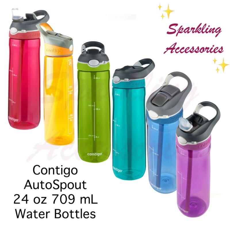 AU19.50 • Buy NEW Contigo Autospout Drink Water Bottle Straw 24oz/ 709mL BPA-Free & Leakproof!