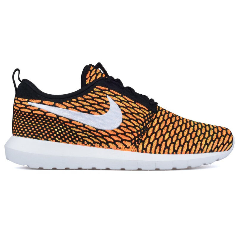 new concept a1e95 08442 Zapatillas NIKE ZAPATOS Roshe One Flyknit NUEVO Bk-Wh-naranja Hombre Mujer  • 161.89