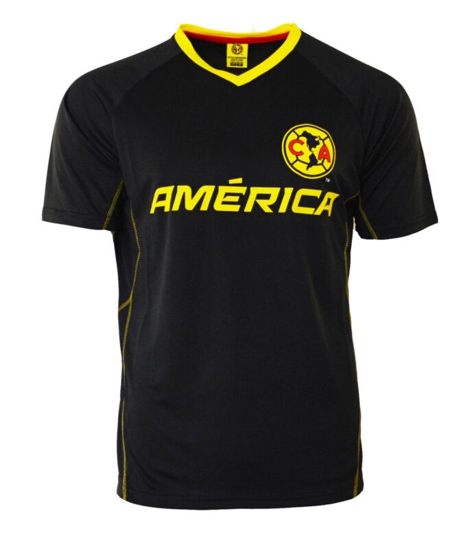 New Club America Jersey Training Mens Aguilas Del America FMF Mexico Navy Yellow • 19.99$
