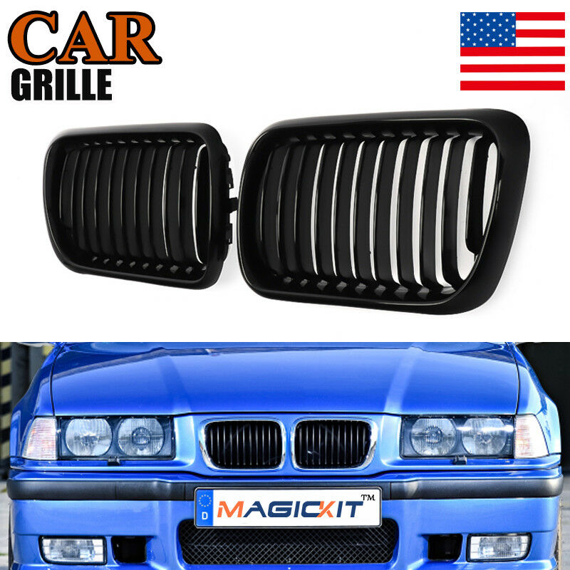 $32.99 • Buy For 97-99 BMW M3 E36 3 Series Compact M Look Kidney Grille Grill Gloss Black US